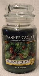 Balsam & Cedar Large Jar Candle 22 oz with Free Shipping