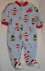 Carter's My First Christmas 0-3 Month Footed Pajama with Free Shipping