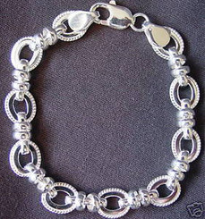 Sterling Silver Link Bracelet with Free Shipping