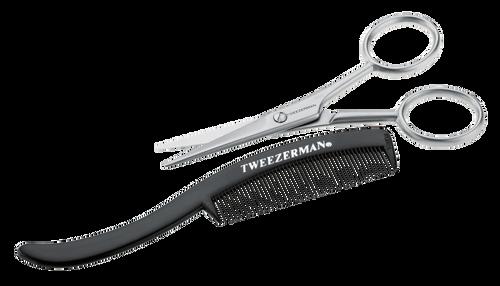 Tweezerman Moustache Scissors & Comb