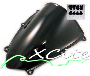 Windscreen f5 2007-2008 - Black with bolts WS1024