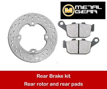 MetalGear rear brake rotor and pads package MC22 MC41 20-035-w-set