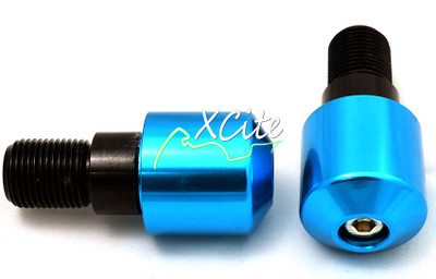 Bar ends - blue for Yamaha BE101BL