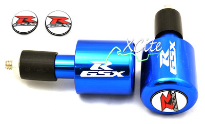 Blue GSXR 600 750 1000 bar ends BE109BL