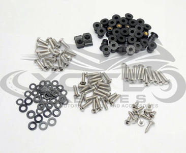 Fairing bolts kit, stainless steel, Kawasaki ZX-6R 2007 2008 BT141