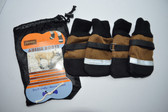 Aussie Dog Boots - XX-Small - Tan / Black