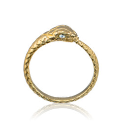 Gold Ouroboros Diamond Ring