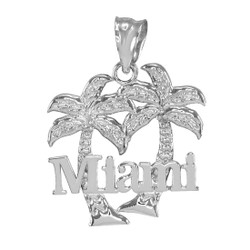 Sterling Silver Miami City Pendant Necklace