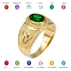 Gold Celtic Band CZ Ring