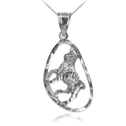 Sterling Silver Taurus Zodiac Sign DC Pendant Necklace