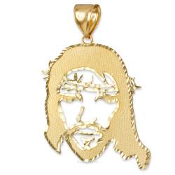 Gold Jesus Face DC Pendant (S/M/L)