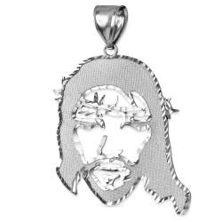 Sterling Silver Jesus Face DC Pendant (S/M/L)