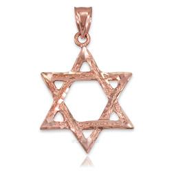Rose Gold Jewish Star of David DC Pendant