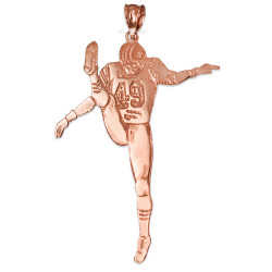 Polished Rose Gold #49  Football Player Pendant