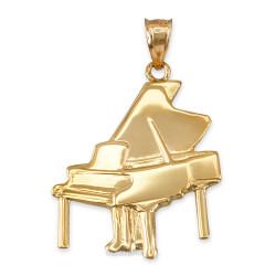 Yellow Gold Grand Piano Pendant