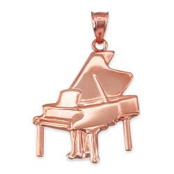 Rose Gold Grand Piano Pendant