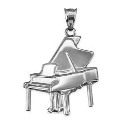 Sterling Silver Grand Piano Pendant