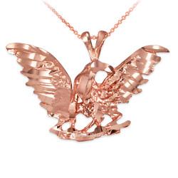 Rose Gold Eagle DC Pendant Necklace