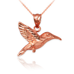 Rose Gold Hummingbird DC Charm Necklace