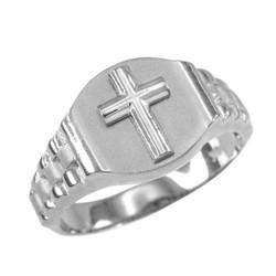 Silver Cross Ring