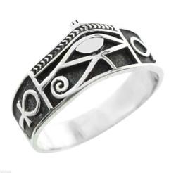 Silver Horus Ankh Ring