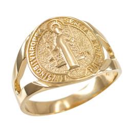 Gold St. Benedict Ring.