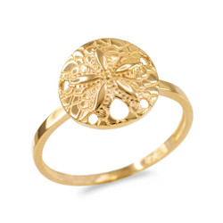 Gold Sand Dollar Ring