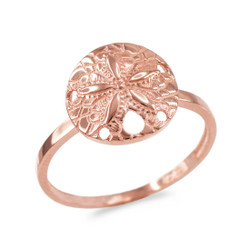 Rose Gold Sand Dollar Ring