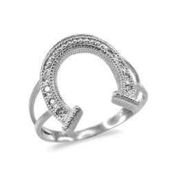 White Gold Diamond Horseshoe ring