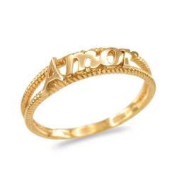 Gold Amor ring