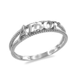 White gold Amor ring