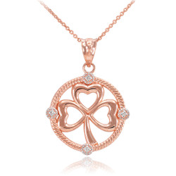 Rose Gold Shamrock Necklace