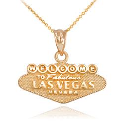 Gold Las Vegas Charm Necklace