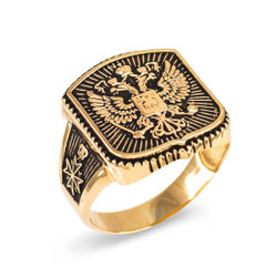Gold Russian ring