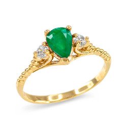 Emerald Stackable Ring