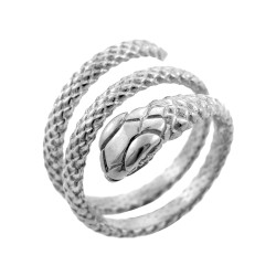 Sterling Silver Rolling Snake Ring