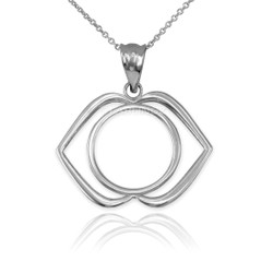White Gold Ajna Chakra Yoga Pendant Necklace