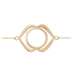 14K Yellow Gold Ajna (3rd Eye) Chakra Yoga Bracelet