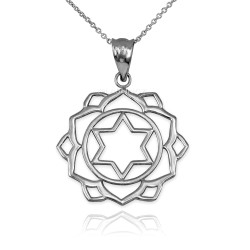 White Gold Anahata Love Chakra Yoga Pendant Necklace