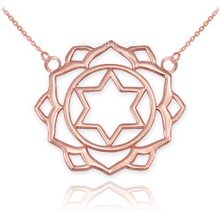14K Rose Gold Anahata Love Chakra Yoga Necklace