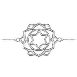 Sterling Silver Anahata Love Chakra Yoga Bracelet