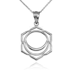 White Gold Svadhishthana Chakra Pendant Necklace