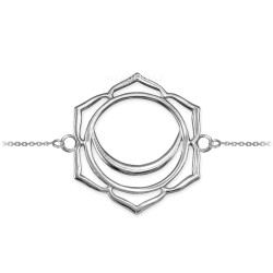 Sterling Silver Svadhishthana Chakra Yoga Bracelet
