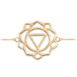 14K Gold Manipura Chakra Womens Yoga Bracelet