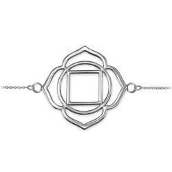 Sterling Silver Muladhara Chakra Womens Yoga Bracelet Bracelet
