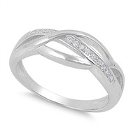 Line of Infinity Cubic Zirconia Ring Sterling Silver 925