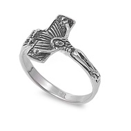 Crucifix Ring Sterling Silver 925