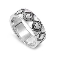 Amor Hearts Ring Sterling Silver 925