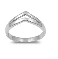 V Shaped Pointy Ring Sterling Silver 925