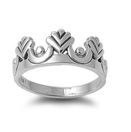 Princess Crown Ring Sterling Silver 925